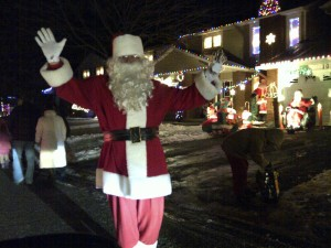 Forget the North Pole - turns out that Santa lives right here on Taffy Lane!