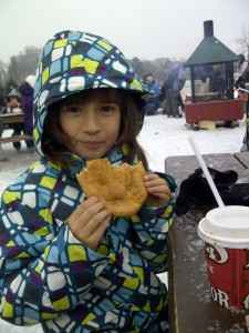 Skater's reward: a Beavertail and a hot chocolate.