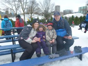 The Gardner family embraced the Ottawa winter with a full range of outdoor activities.