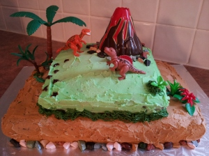 My final dino cake creation.