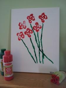 Celery painting