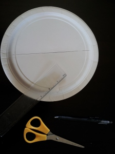 Paper plate with tools