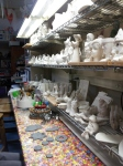 Shelves of unpainted ceramics to choose from!
