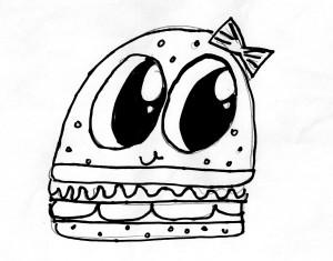 Elissa's cute hamburger