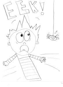 Elissa's spider cartoon