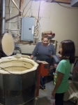 Sandra explains how the ceramics are fired in her two large kilns.