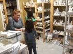 A tour of the back room, where all the ceramics are made.