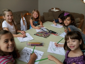 Little artists at work