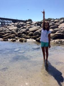 Elissa at the beach
